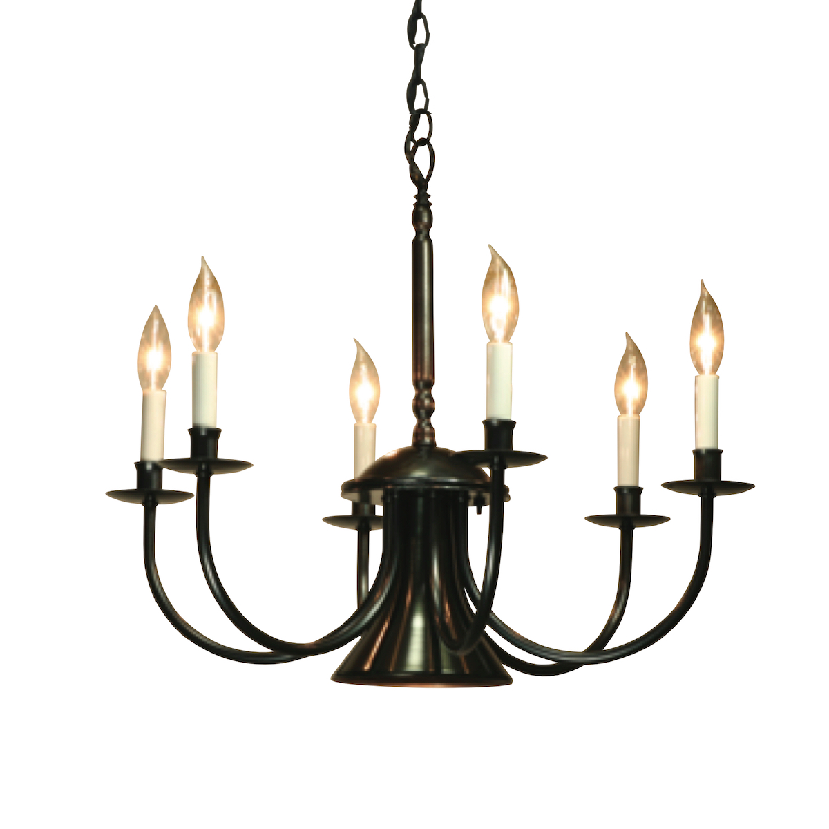 Lumina Chandelier 6 arm Candle w/Centre Light